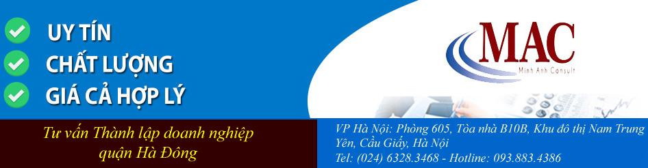 Tư vấn Thành lập doanh nghiệp quận Hà Đông