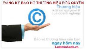 Thủ tục đăng ký bảo hộ thương hiệu độc quyền