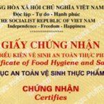 Xin giấy chứng nhận đủ điều kiện vệ sinh an toàn thực phẩm
