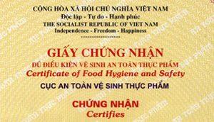 dịch vụ tư vấn thủ tục Xin giấy chứng nhận đủ điều kiện vệ sinh an toàn thực phẩm, giấy phép
