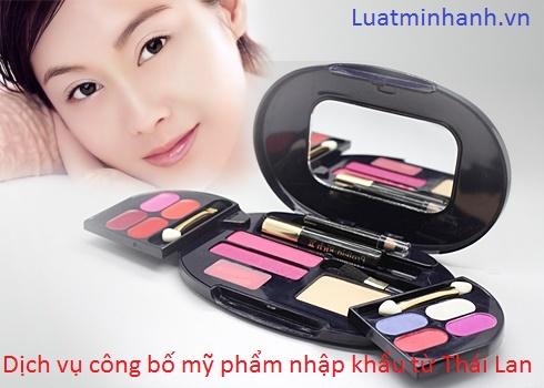 Dịch vụ công bố mỹ phẩm nhập khẩu từ Thái Lan