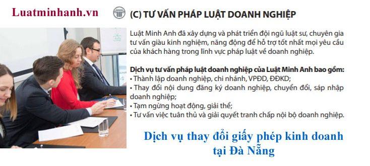 Dịch vụ thay đổi giấy phép kinh doanh tại Đà Nẵng