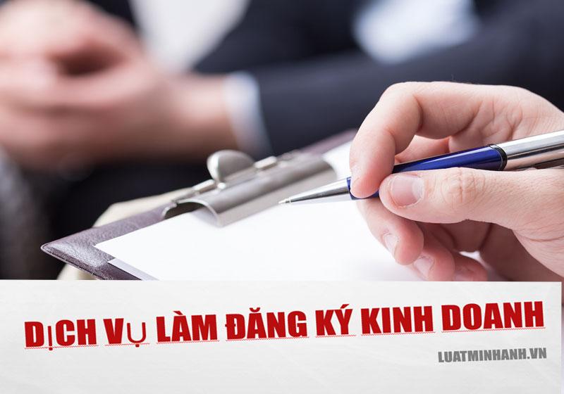 Dịch vụ làm đăng ký kinh doanh