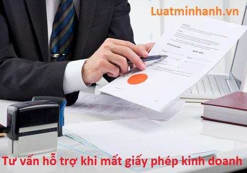 Mất giấy phép đăng ký kinh doanh thì phải làm sao