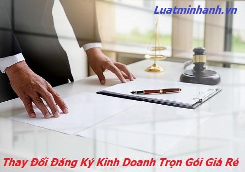 Thay đổi đăng ký kinh doanh trọn gói giá rẻ